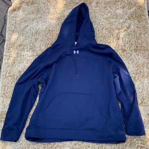 Men's adidas blue fleece Performance Hoodie 3X